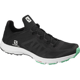 Salomon Amphib Bold Sko Damer, black/white/electric green